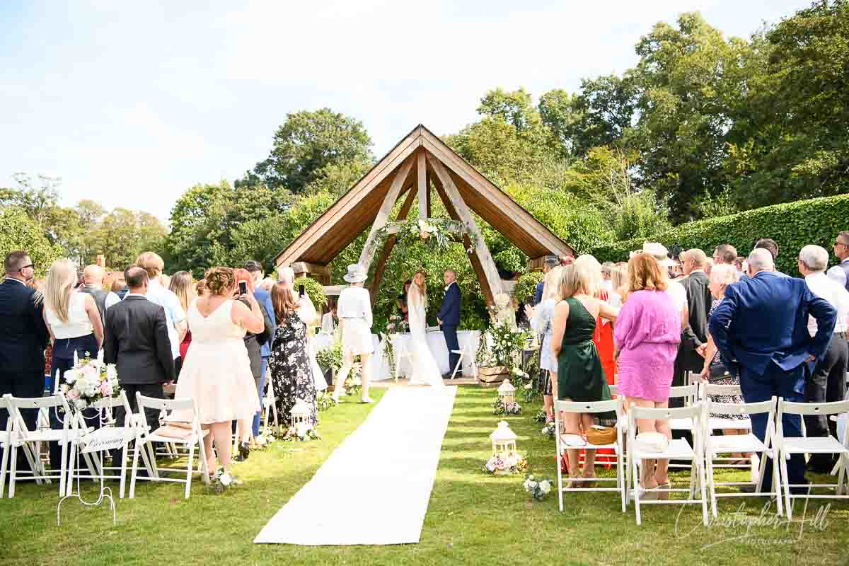 Tudor Barn outdoor wedding