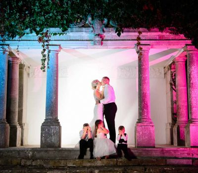 highfield park wedding kiss